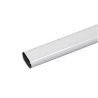 Труба овальная металл, белая L=1200мм