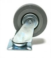 Колесо  D=125 поворотное серое  гп 100 кг