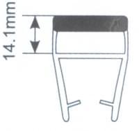 Молдинг для душевых кабин Н008В-10мм 180 гр. L=2.2м