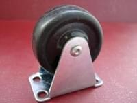 Колесо  D=40 прямое резиновое  чёрное гп 20 кг