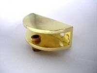 Стеклодержатель Р 2713 (24*54*20мм) (под стекло  8-12мм) металл золото
