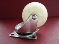 Колесо  D=50 поворотное белое полипропилен гп 30 кг