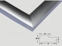Алюминевый профиль L122A L=3 м