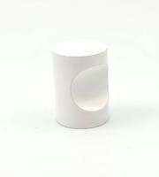Ручка кноб д.18мм  белый (алюминий) 1309К