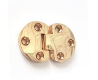 Петля под саморез для откидной створки золото V163