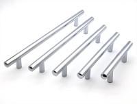 Ручка рейлинг хром полированный  д.12мм FW1530-064мм (общая длина 124мм)