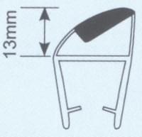 Молдинг для душевых кабин Н008С-10мм 135 гр. L=2.2м