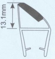 Молдинг для душевых кабин Н008А -8мм 90 гр. L=2.4м