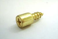 Полкодержатель вкручивающийся золото металл