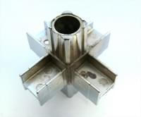 Соединитель 20*20 PR4 (6-и труб  крестообразный хром)