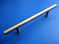 Ручка рейлинг цвет сатин, д.12мм №303-224мм (общая длина 284мм)