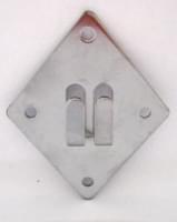 QTA 00200002 держатель сетки к стене металл хром