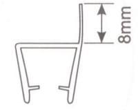 Молдинг для душевых кабин Н003 - 8мм L=2.2м