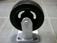 Колесо  D=150 прямое черное резиновое гп 200 кг