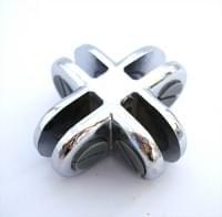соединение GCP-135 4-х стекл  крестообразное хром (3-5мм)