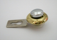 Держатель зеркала J-130 (для зеркала 4-5мм) хром+золото