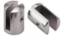 Стеклодержатель К97 (28*20*20мм) (под стекло 10мм) нерж. сталь