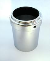 Стакан для верхнего крепления на трубу D=50 метал хром Z005