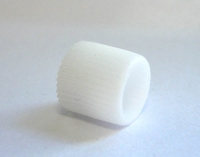 Полкодержатель под шуруп белый пластик