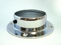 Трубодержатель торцевой D=50 плоский с фиксатором сталь