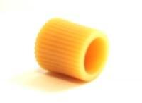 Полкодержатель под шуруп светло-коричневый пластик