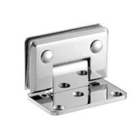 Навес для душевых кабин H-107 (90гр. 1 стекло, 1 сторона открывания) покрытие: хром (мат-л:бронза)