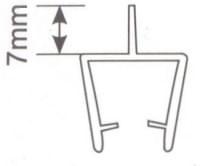 Молдинг для душевых кабин Н001 - 8мм L=2.2м