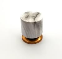 Ручка  кноб под мрамор (цинк) 3329 д.25мм