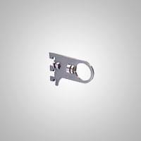 Кронштейн М800*100 с винтом для крепления трубы D=32 на перфорацию