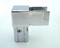 Соединитель 20*20  (2-х труб  Г-образный хром) FW2089-2