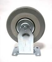 Колесо  D=125 прямое серое гп 100 кг