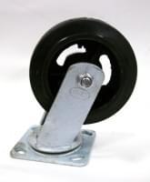 Колесо  D=150 поворотное черное резиновое гп 200 кг
