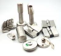 Комплект для сантехнической перегородки универсальный нержавеющая сталь