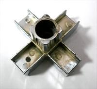 Соединитель 20*20 PR3 (5-и труб  крестообразный хром)