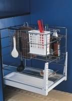 РТJ 025  Выдвижная секция с крючками и отделением для столовых приборов с нижним креплением   (440*360*480)