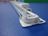 Полозья для ящиков роликовые белые L=400мм
