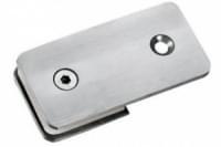 соединение стекла одностороннее H-48 (180гр.) (под стекло 6-12мм) нерж.сталь