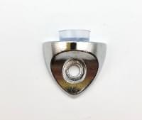 Полкодержатель под стекло V0411 с присоской  металл хром