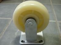 Колесо  D=150 прямое белое полипропилен гп 300 кг