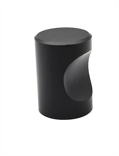 Ручка кноб д.18мм черный матовый (материал: алюминий) 1309К