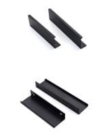 Ручка профиль 4360-192 черный матовый (алюминий)