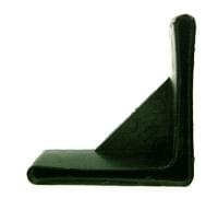Подпятник для перфорированного уголка 37Х37 ПХВ/черный (TL002)