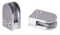 Стеклодержатель J80-1 (под стекло 8-20мм) на трубу (63*42*24мм) металл хром