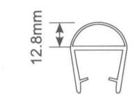 Молдинг для душевых кабин Н007 - 8мм L=2.2м