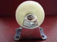 Колесо  D=50 прямое белое полипропилен гп 30 кг