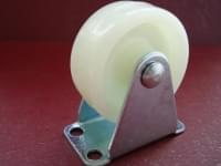 Колесо  D=40 прямое белое полипропилен гп 25 кг