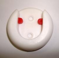 Скалкодержатель D=25 пластмасовый белый