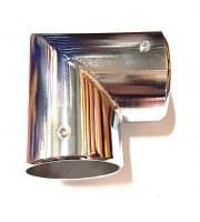 Соединитель 2-х труб D=50 Г-образный хром (TH08)