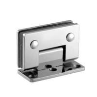Навес для душевых кабин H-112 (90гр. 1 стекло, 1 сторона открывания) покр: хром (мат-л:бронза)