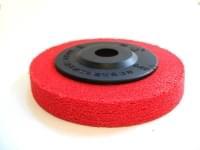 Полировочный диск D=100-15 для меди, бронзы, зерн. 200 (красный)